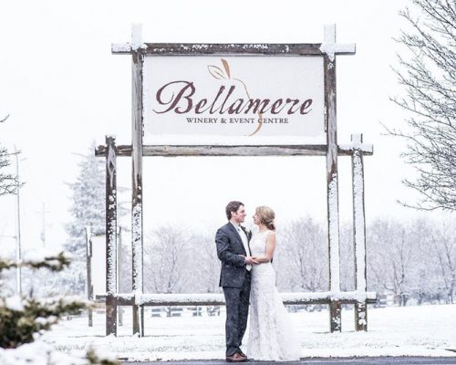 Bellamere Winery London Ontario Wedding Venue Orchard Best Wedding Venue London's Ideal Wedding Venue Romantic Newlyweds Love Rustic Wedding Venue Barn Wedding Venue Rustic Wedding Ceremony Winter Wedding