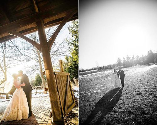 Bellamere Winery London Ontario Wedding Venue Orchard Best Wedding Venue London's Ideal Wedding Venue Romantic Newlyweds Love Rustic Wedding Venue Barn Wedding Venue Rustic Wedding Ceremony Love Knots Photography