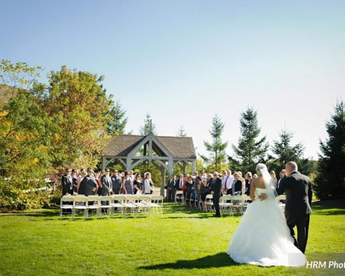 Bellamere Winery London Ontario Wedding Venue HRM Photography Outdoor Gazebo Ceremony Winery Ceremony I DO Love Walk down the Isle