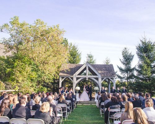 Bellamere Winery London Ontario Wedding Venue Gazebo Ceremony Outdoor Ceremony Rustic Barn Wedding I DO Love