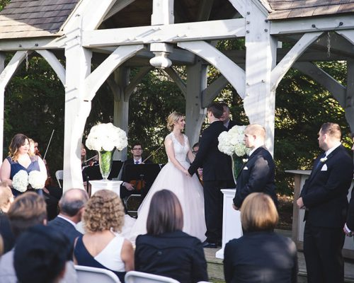 Bellamere Winery London Ontario Wedding Venue Rustic Gazebo Ceremony Outdoor Ceremony I DO Live Music for Ceremony Wedding Ceremony