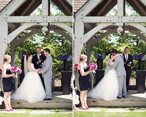 Bellamere Winery London Ontario Wedding Venue Gazebo Ceremony First Kiss I DO Outdoor ceremony Londons Best Wedding Venue Rustic Barn Wedding