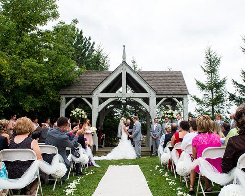 Bellamere Winery London Ontario Wedding Venue Flower Petals Gazebo Ceremony I DO MR & MRS Outdoor Ceremony Londons Best Wedding Venue Location