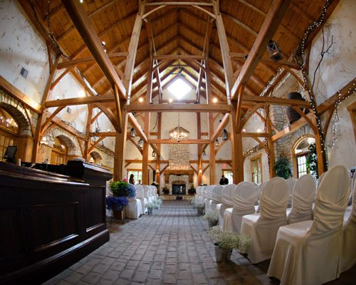 Bellamere Winery London Ontario Wedding Venue Rustic Barn Ceremony Wedding Romantic vintage Venue Cathedral Ceiling