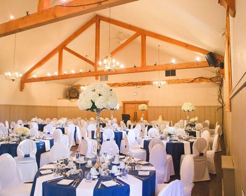 Bellamere Winery London Ontario Wedding Venue Rustic Barn Reception Hall Ceremony Location Vintage Navy and White