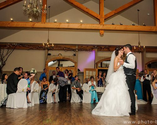 Bellamere Winery London Ontario Wedding Venue Rustic Barn elegant First Dance White Dress Romantic