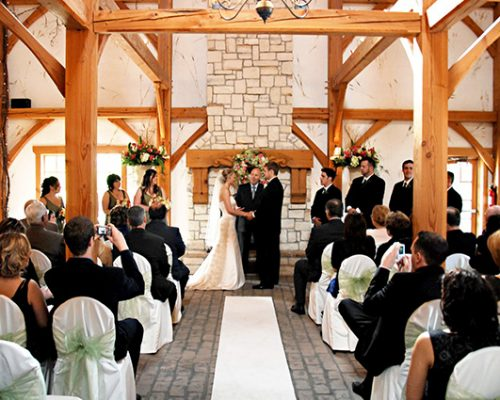 Bellamere Winery London Ontario Wedding Venue Ceremony Location Indoor Ceremony Winery Ceremony Rustic Bar Romantic