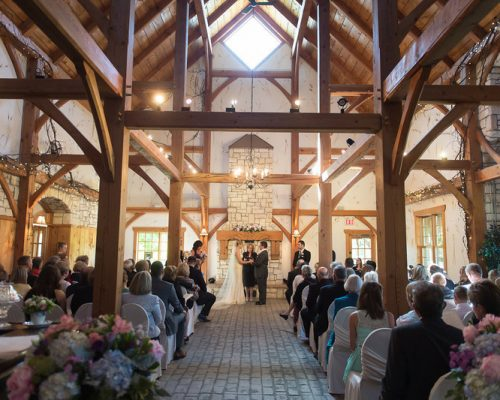 Bellamere Winery London Ontario Wedding Venue Indoor Ceremony Winery Setting Vows Mr & Mrs Rustic Barn Vintage Romantic