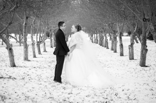 Bellamere Winery London Ontario Wedding Venue Winter Wedding Snow Orchard Rustic Wedding Romantic First Look I DO One-12 Photography