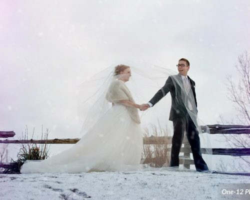 Bellamere Winery London Ontario Wedding Venue Winter Wedding Snow One-12 Photography Just Married Rustic Wedding Venue Barn Wedding Vintage