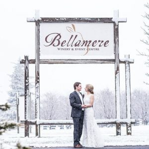 Bellamere Winery London Ontario Wedding Venue Winter Wedding Wedding Photography First Look London's Ideal Wedding Venue Romantic