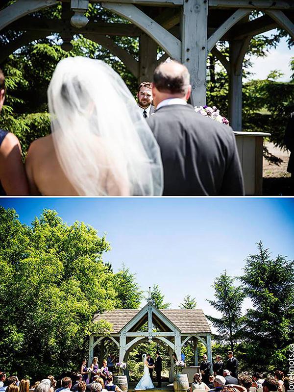 Bellamere Winery London Ontario Wedding Venue Love Knots Photography Gazebo Ceremony LOVE Romantic London's Best Wedding Venue First Look