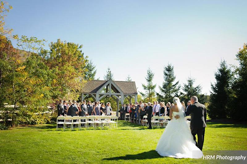 Bellamere Winery London Ontario Wedding Venue HRM Photography Outdoor Gazebo Ceremony Winery Ceremony I DO Love Walk down the Isle