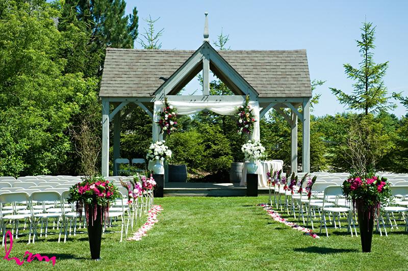 Bellamere Winery London Ontario Wedding Venue HRM Photography Gazebo Ceremony Rustic Ceremony Barn Elegance Outdoor Ceremony I DO