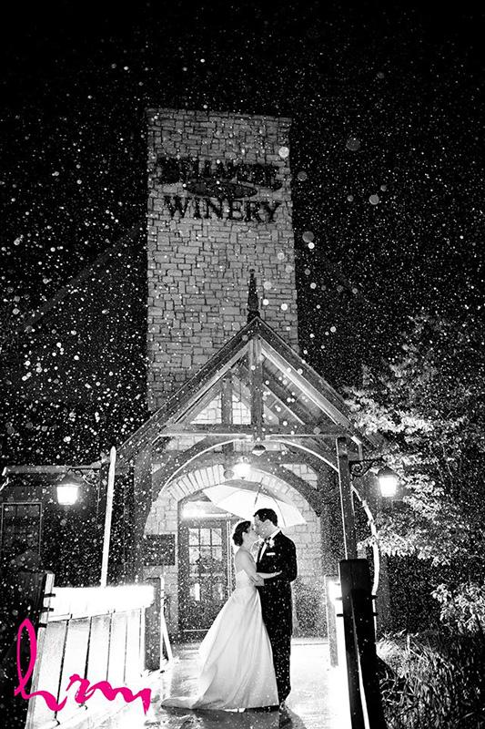 Bellamere Winery London Ontario Wedding Venue Winter Wedding HRM Photography Rustic Barn