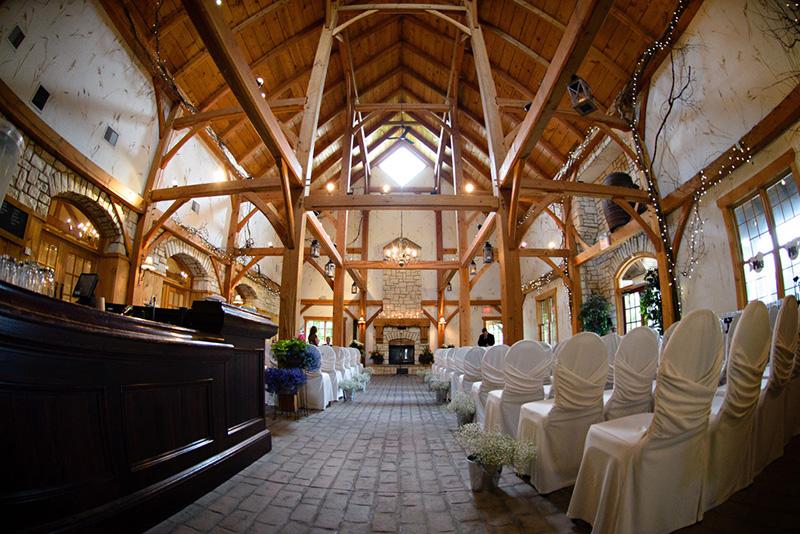 Bellamere Winery London Ontario Wedding Venue Rustic Barn Ceremony Wedding Romantic vintage Venue Cathedral Ceiling