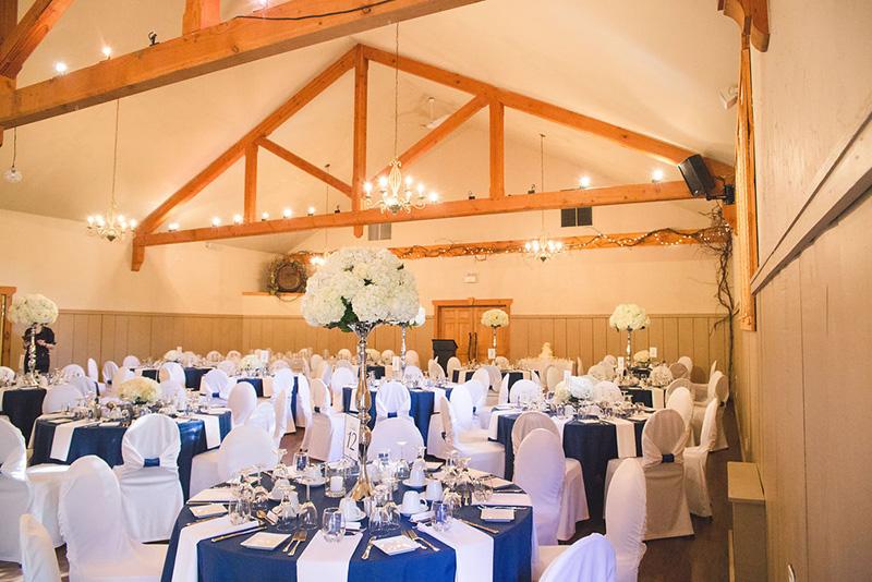 Bellamere Winery London Ontario Wedding Venue Rustic Barn Reception Hall Ceremony Location Vintage Navy and White