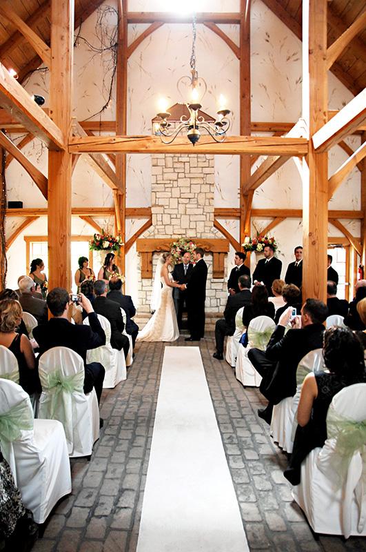 Bellamere Winery London Ontario Wedding Venue Ceremony Location Indoor Ceremony Winery Ceremony Rustic Bar Romantic