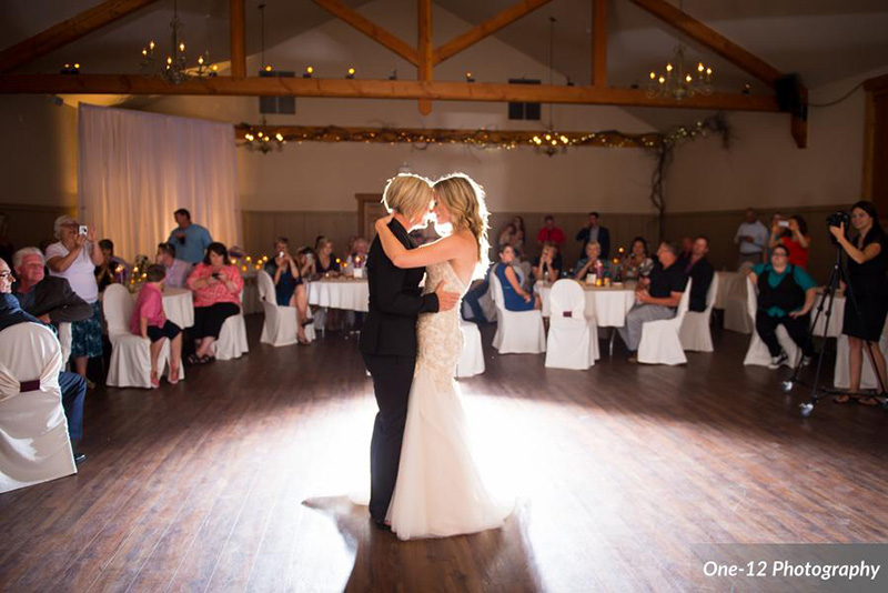 Bellamere Winery London Ontario Wedding Venue Same Sex Wedding Gay and Lesbian Wedding Barn Rustic Romantic First Dance