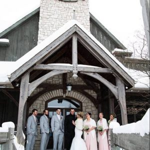 Bellamere Winery London Ontario Wedding Venue Winter Wedding Just Married Wedding Party Photos Snow Romantic Winery Wedding Venue Rustic Wedding Venue
