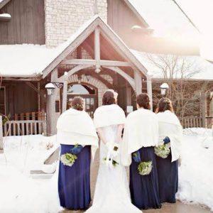 Bellamere Winery London Ontario Wedding Venue Winter Wedding Snow Just Married Winery Wedding Rustic Wedding Navy Wedding Decor