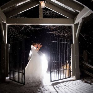 Bellamere Winery London Ontario Wedding Venue Winter Wedding One-12 Photography First Look First Kiss Just Married Love I DO Snow Rustic Wedding Venue Barn Wedding