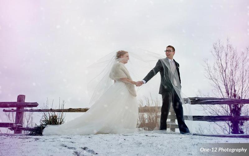 Bellamere Winery London Ontario Wedding Venue Winter Wedding Snow One-12 Photography Just Married Rustic Wedding Venue Barn Wedding Vintage