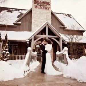 Bellamere Winery London Ontario Wedding Venue Winter Wedding London's Best Wedding Venue Snow Wedding Photography Romantic