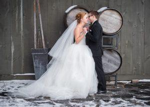 London Ontario Wedding Venue Winter Winery Barn Wedding